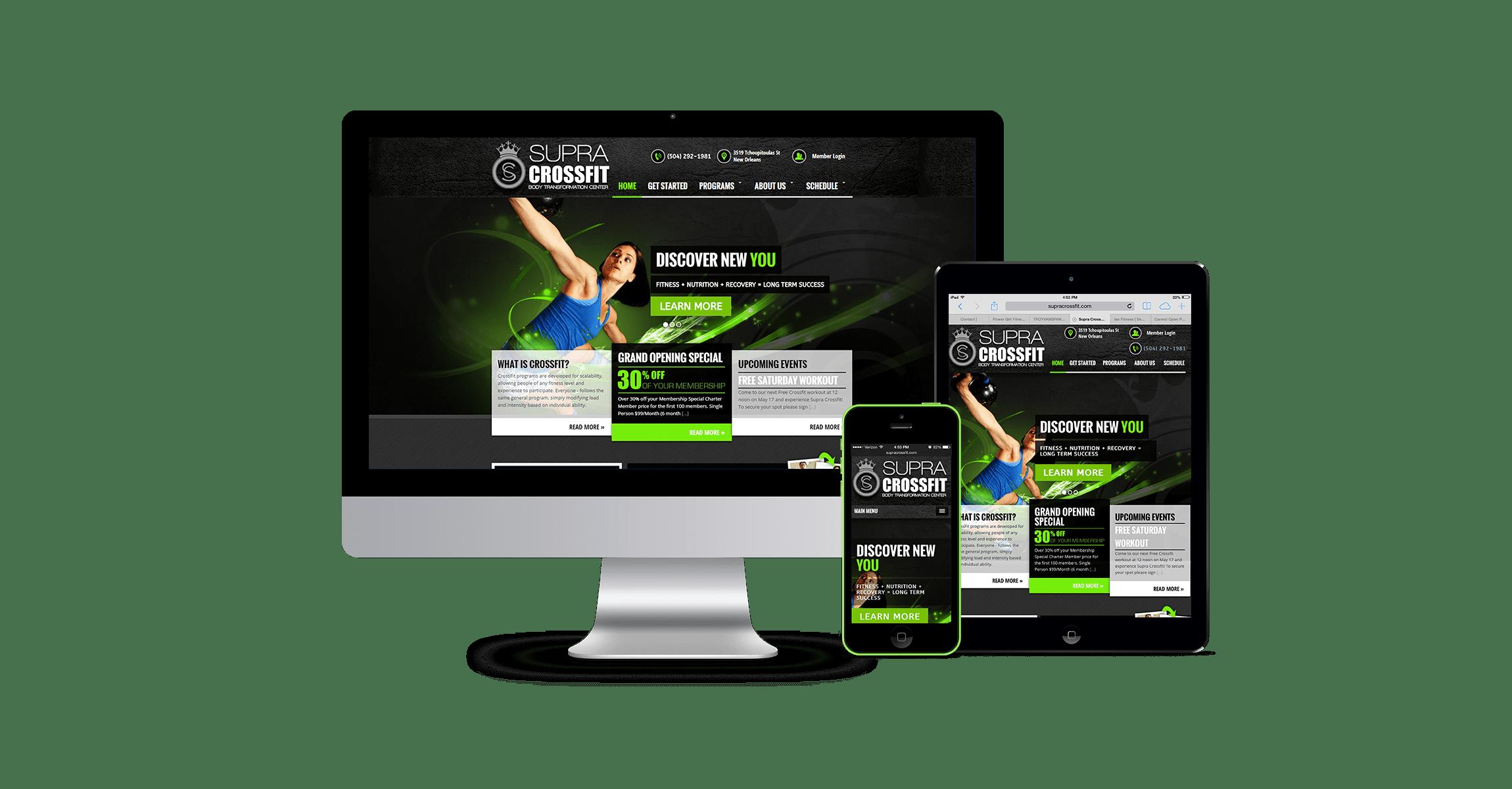 crossfit web design