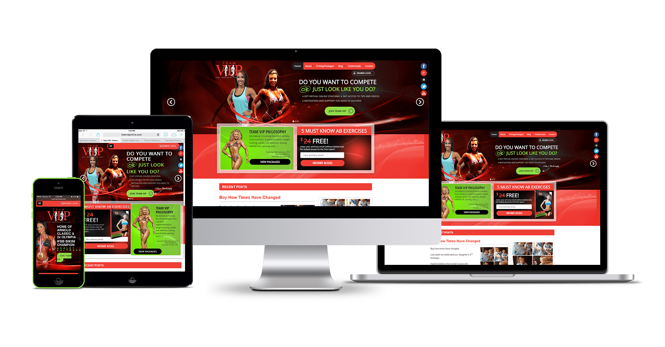 Online Fitness Training Website Platform