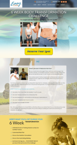 6 Week Body Transformation Challenge Easy Fitness Marina del Rey