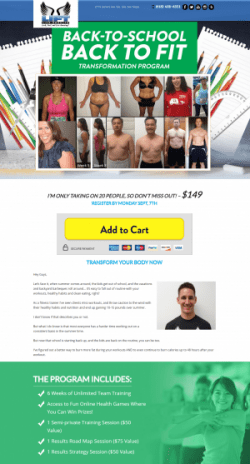 Back to School Back to Fit Lift Life Results San Diego